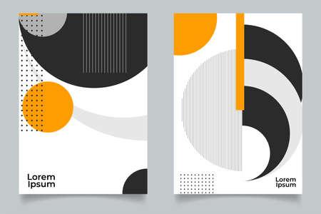 Minimal Geometric Posters Set. Vector illustration