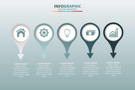 Infographic design on the grey background Иллюстрация
