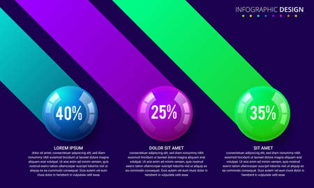 Business Infographics ball concept. Vector illustration