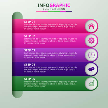 Infographics design vector and marketing icons