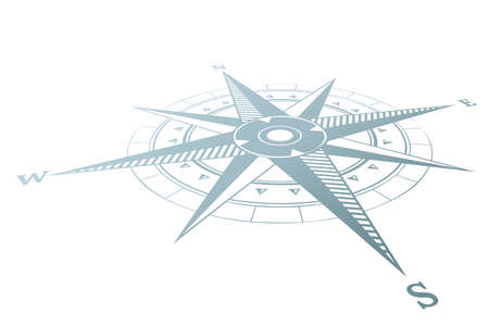 Compass icon in flat design Иллюстрация