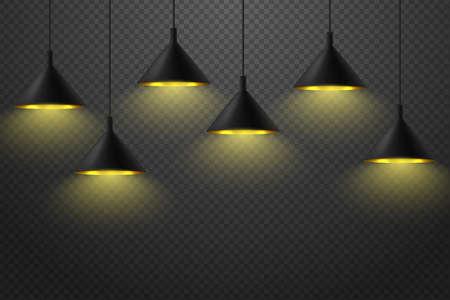 Modern black ceiling lamp ceiling luminaire set Иллюстрация