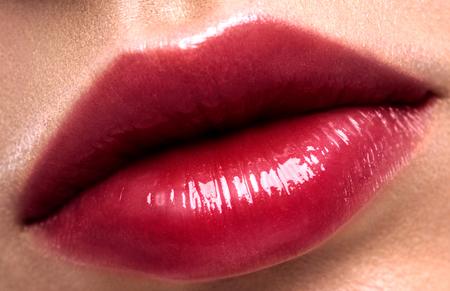 Glitter labbra rosse