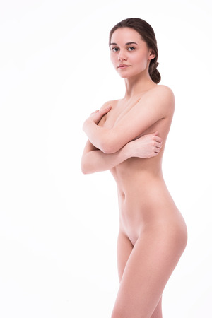 young womens: Nude girl with a smile