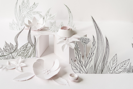 3d paper flowers with painted leaves and stems white gifts and 3d paper flowers with painted leaves and stems white gifts and white paper flowers on mightylinksfo