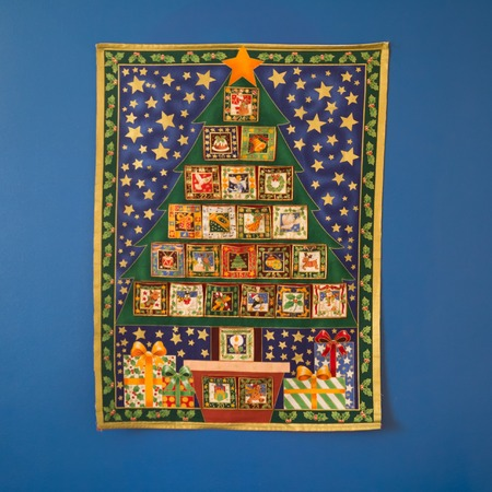 advent calendar, waiting for the holiday. Children's room