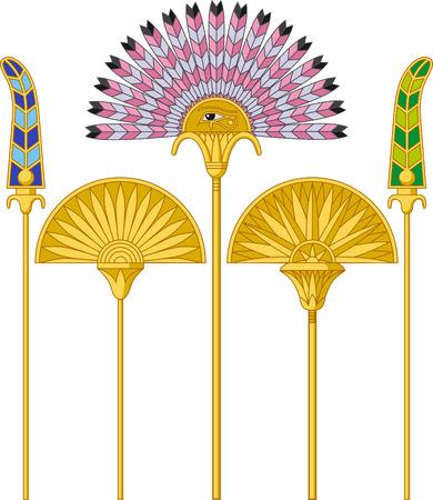 Illustration of an egyptian large fans isolated on white background  Illustration
