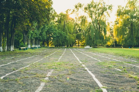 runing: The old school track for runing, jogging