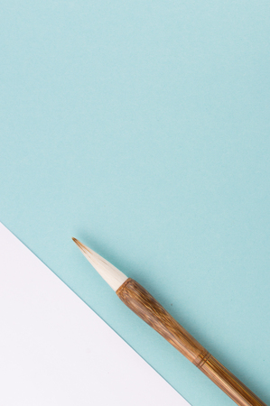 The chinese calligraphy brush for traditional writing. Stock Photo