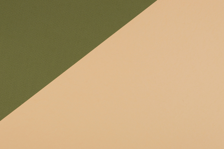 Paper flat composition with green and olive background for text. Standard-Bild