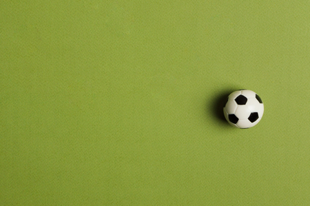 Soccer ball on the green background. Soccer worldcup 2018.