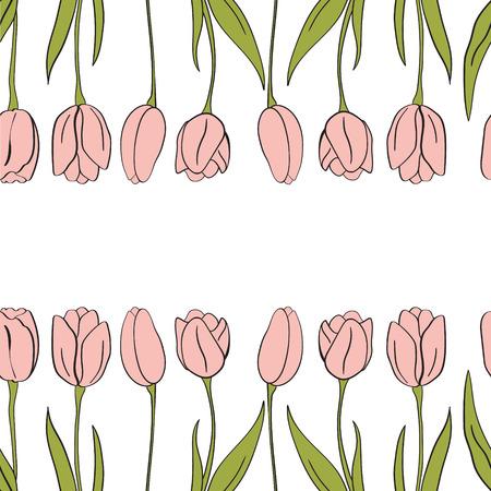 Vector tulips background design.