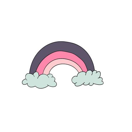 Cute animal. Vector rainbow illustration isolated on white background Illustration
