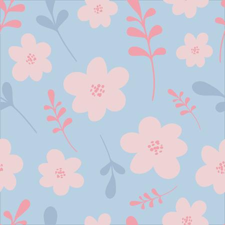 Elegant vector illustration. Seamless floral pattern. For print