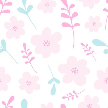 Seamless pink floral pattern. Elegant vector illustration. For print