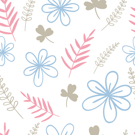Floral vector illustration. Seamless pattern. For print