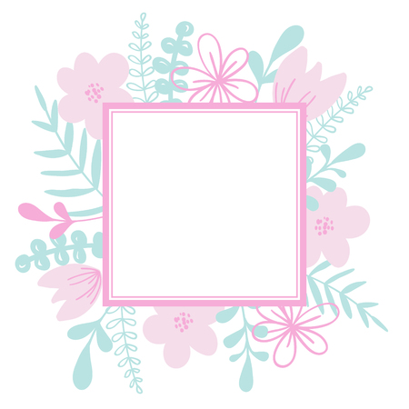 Beautiful floral vector frame. For wedding invitation card, print.