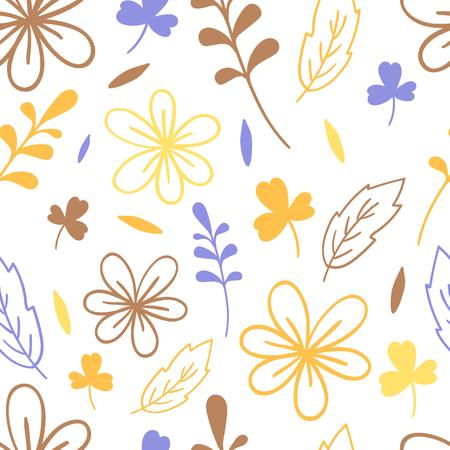 Seamless simplicity floral pattern. Elegant vector illustration. For print, card Illustration
