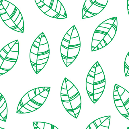 Seamless green leaves pattern. Ornament for print, card, wallpaper
