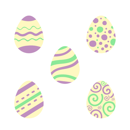 Easter eggs set. Illustration for Easter. Tradition religion holiday.