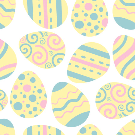 Easter eggs vector pattern. Illustration for Easter. Tradition religion holiday.