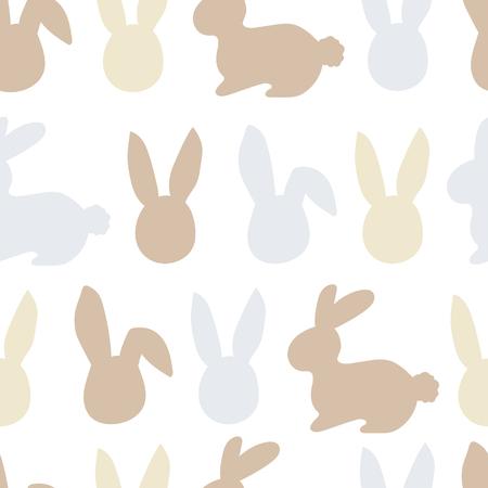 Happy easter bunny pattern. Egg hunt vector illustration for flyer, design, scrapbooking, poster, banner, web element