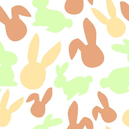 Bunny pattern. Easter egg hunt vector illustration for design, scrapbooking, poster, banner, web element Illustration