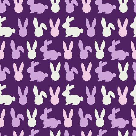 Violet pattern of easter bunny. Egg hunt illustration for flyer, design, scrapbooking, poster, banner, web element