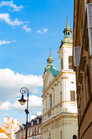 Old town of Warsaw. The travel destination of Poland. Standard-Bild