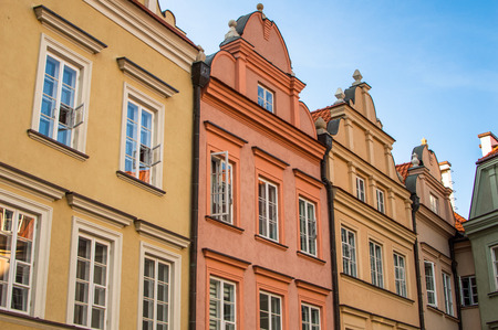 Historical location. Building in old town of Warsaw