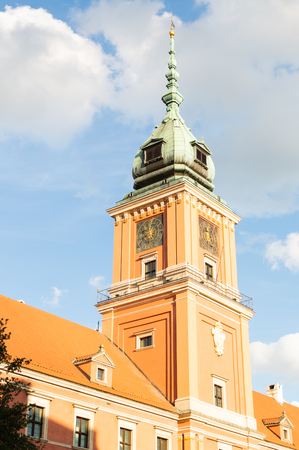 Tower in old town Warsaw. Historical place