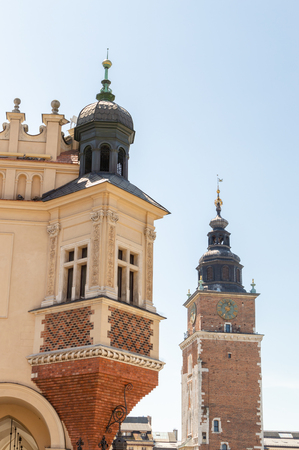 Architecture of old city Krakow. Square of market