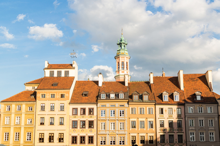 Main square of old town Warsaw. Tourism in European