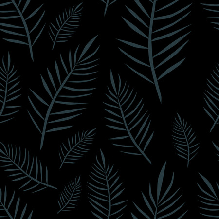 Jungle hawaii dark pattern. Exotic floral vector