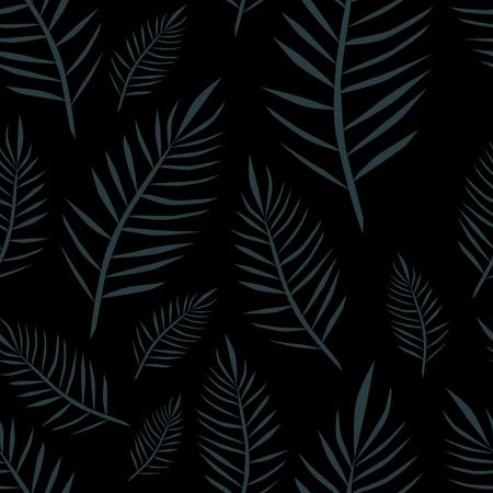 Jungle hawaii dark pattern. Exotic floral vector