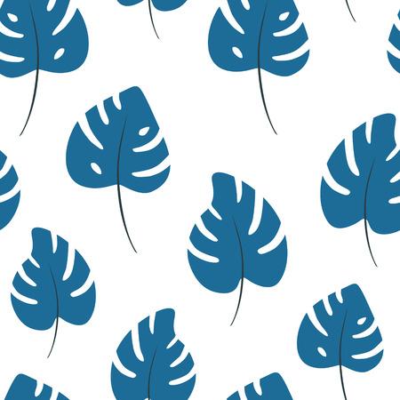 Jungle background for print. Seamless pattern of leaf palm vector Standard-Bild