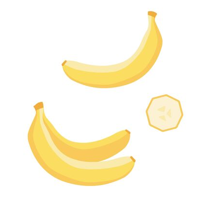 Set of vector icon banana, tropical fruit in flat style.