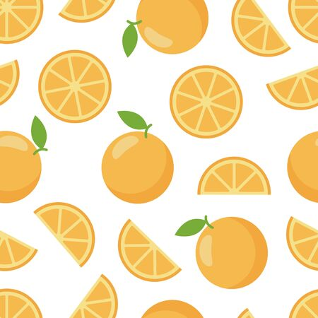Pattern seamless of orange, organic sweet dessert. Standard-Bild - 126164791