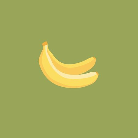 Icon of banana, tropical illustration in flat style. Standard-Bild - 132553830