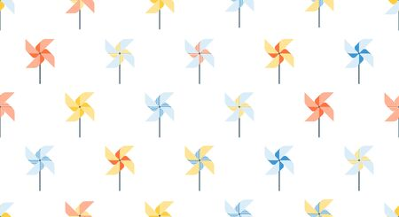Seamless pattern of pinwheel, background for kids products, happy childhood.