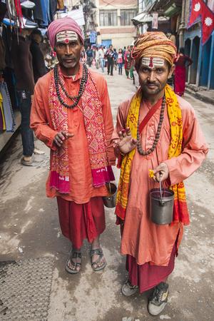 sadhu: KATHMANDU, NEPAL - CIRCA NOVEMBER 2013: Sadhu on the streets of Kathmandu circa November 2013 in Kathmandu.