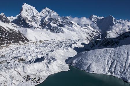 sherpa: GOKYO, NEPAL: beautiful view of the Himalayas from Gokyo Ri circa October 2013 in Gokyo.