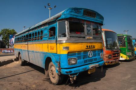 CALCUTTA, INDIA - CIRCA NOVEMBER 2013: bus station in Calcutta circa November 2013 in Calcutta.