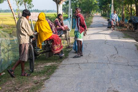 indian village: CALCUTTA, INDIA - CIRCA NOVEMBER 2013: life in the Indian village circa November 2013 in Calcutta. Editorial
