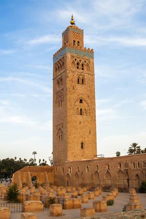 MARRAKECH, MOROCCO - CIRCA SEPTEMBER 2014: Koutoubia Mosque circa September 2014 in Marrakech. Stock Photo