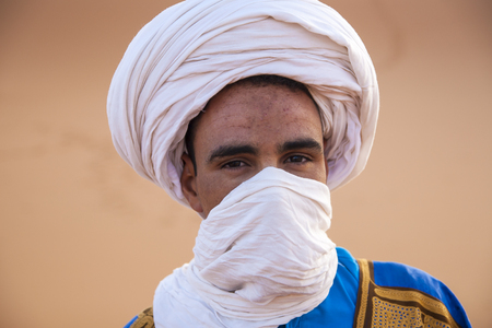 HASSILABIED, MOROCCO - CIRCA SEPTEMBER 2014: Berber people circa September 2014 in Hassilabied.