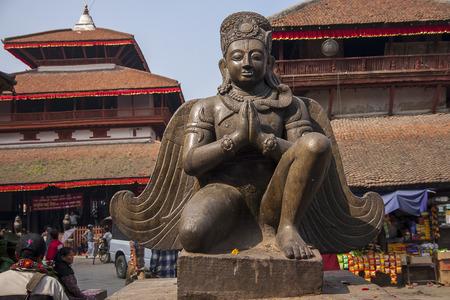 garuda: KATHMANDU, NEPAL - CIRCA OCTOBER 2013: Garuda to Durbar Square in Kathmandu circa October 2013 in Kathmandu.