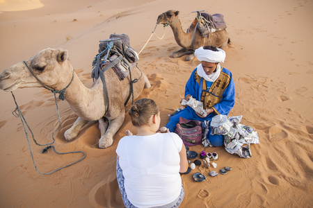 ascetic: HASSILABIED, MOROCCO - CIRCA SEPTEMBER 2014: Berber people circa September 2014 in Hassilabied.