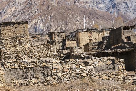 tibetan house: PURANG, NEPAL: view of the village Purang around Muktinath circa November 2013 in Purang.