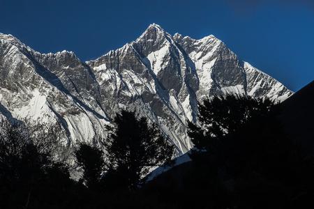 mani: PANGBOCHE, NEPAL: view of the Lhotse circa October 2013 in Pangboche.